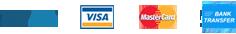 PayPal | VISA | MasterCard | Bank Transfer